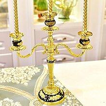Fkduih Abendessen bei Kerzenlicht tischornamenten Leuchter europäische Hochzeit Hochzeit Dekoration Requisiten amerikanische Weihnachten Kerzen Taiwan, B