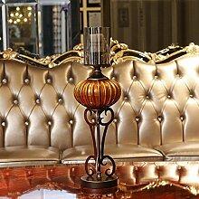 Fkduih Amerikanischer Luxus Glas Kerzenhalter Kürbis Ornamente romantisches Candlelight-Dinner Tabelle xunlight eingerichtet, Tuba