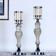Fkduih High-end-Europäischen romantische Hochzeit Abendessen Ornamente, Kristall Leuchter Galvanik Home Möbel Glas Leuchter kreative Produkte, ein Paar