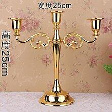 Fkduih Hochzeit Hochzeit 5 Leuchter Leuchter candlelight dinner Table style Hotel Home Ausstattung Dekoration, eine