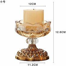 Fkduih Kristall Glas Kerze Kerzenhalter Ornamente Regal layout Requisiten romantisches Candlelight-Dinner europäischen Luxus Hochzeit Kerze, Trompete
