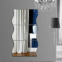 Flabor Spiegel Aufkleber DIY Dekoration Wohnzimmer