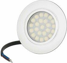 Flache LED Möbeleinbauleuchte 4W 230V IP44