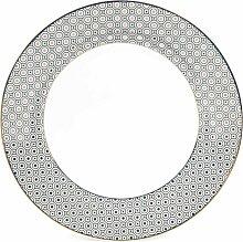 Flacher Teller KATE aus Porzellan, D 27 cm