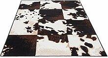 Flachgewebe Motivteppich Trend Afrika Kuhfell 160 x 225 cm