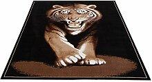 Flachgewebe Motivteppich Trendteppich Afrika Tiger 160 x 225 cm