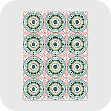Flachgewebe Teppich | 1 Stück Retro Printed