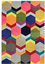 Flachgewebe-Teppich Chiyoda in Gelb/Rosa BohoLiving