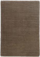 Flachgewebe-Teppich Crowne in Taupe Ebern Designs