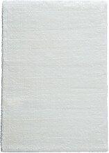 Flachgewebe-Teppich Crowne in Weiß Ebern Designs