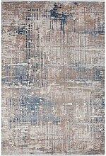 Flachgewebe-Teppich Dandre in Braun/Schwarz