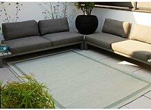 Flachgewebe-Teppich Danger in Mintgrün