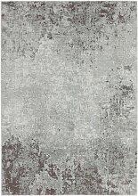 Flachgewebe-Teppich Devrek in Braun/Hellgrau