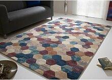 Flachgewebe-Teppich Eveloe in Lila