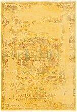 Flachgewebe-Teppich Feist in Gelb