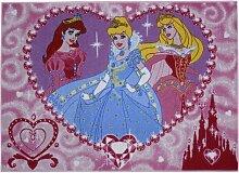 Flachgewebe-Teppich in Rosa Disney Princess