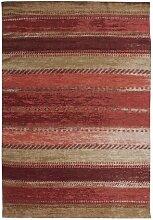 Flachgewebe-Teppich Jacinthe in Rot