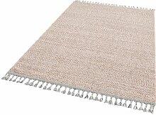 Flachgewebe-Teppich Kennon in Beige