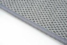 Flachgewebe Teppich Läufer Sahara Grau nach Maß - versandkostenfrei robuste Kunstfaser in Sisal-Optik schadstoffgeprüft pflegeleicht strapazierfähig dekorativ Wohnzimmer Schlafzimmer Büro Flur Diele, Größe Auswählen:67 x 800 cm