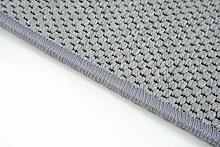 Flachgewebe Teppich Läufer Sahara nach Maß - versandkostenfrei robuste Kunstfaser in Sisal-Optik schadstoffgeprüft pflegeleicht strapazierfähig dekorativ Wohnzimmer Schlafzimmer Büro Flur Diele, Farbe:Grau, Größe:80 x 700 cm
