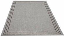 Flachgewebe Teppich Natura Uni grau 200 x 290 cm