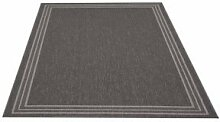Flachgewebe Teppich Natura Uni schwarz 120 x 170 cm