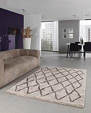 Flachgewebe Teppich POSEIDON - 120X170 - Creme / Beige - 4105B
