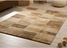 Flachgewebe-Teppich Raymundo in Beige