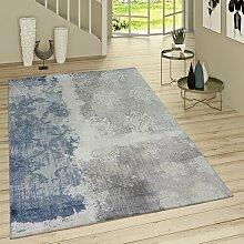 Flachgewebe-Teppich Russ in Blau/Grau LoftDesigns
