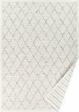 Flachgewebe-Teppich Sasha in Weiß