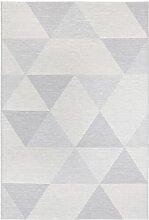 Flachgewebe-Teppich Sevres in Hellgrau Elle Decor