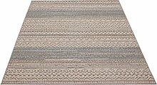 Flachgewebe Teppich Star Kelim blau 160 x 230 cm
