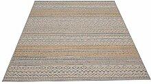 Flachgewebe Teppich Star Kelim gelb 140 x 200 cm