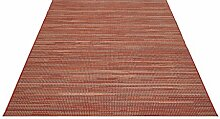Flachgewebe Teppich Star Uni rot 160 x 230 cm