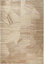 Flachgewebe-Teppich Stay in Beige benuta