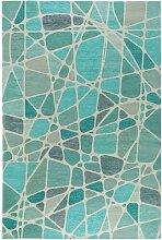 Flachgewebe-Teppich Stay in Blau benuta