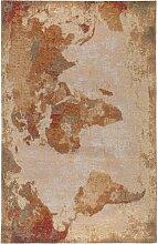 Flachgewebe-Teppich Stay in Hellbraun benuta
