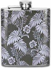 Flachmann mit grauen Blättern, schmal, leicht und