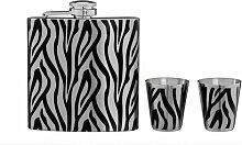 Flachmann-Set Zebra ClearAmbient