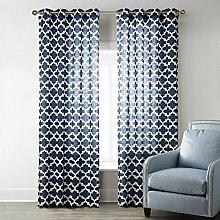 Flachsdruck 65% Schattierung Locher Perforation der Rom bar Windows Vorhänge Valance 1 Panel , 52*95inch (132*241cm)