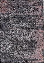 FLACHWEBETEPPICH 68/135 cm Anthrazit, Altrosa
