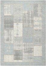 FLACHWEBETEPPICH Hellblau 200/290 cm