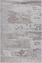 FLACHWEBETEPPICH Hellgrau 155/230 cm