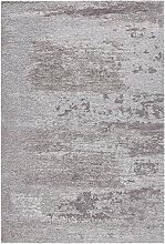FLACHWEBETEPPICH Hellgrau 200/290 cm