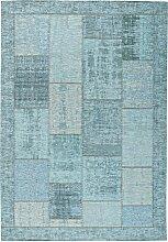 FLACHWEBETEPPICH Türkis 80/150 cm