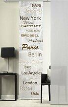 Flächen-Schiebevorhang Emotiontextiles 5005 Städte braun/60 x 260 cm/made in Germany/100% Polyester