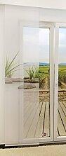 Flächengardine von LYSEL® - Dune transparent mit Motiv in den Maßen 245 cm x 60 cm grün/grau grün