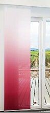 Flächengardine von LYSEL® - Gradient halbtransparent mit Farbverlauf in den Maßen 245 cm x 60 cm rot/magenta