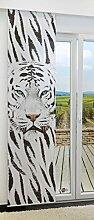 Flächengardine von LYSEL® - Tiger lichtdurchlässig mit Motiv in den Maßen 245 cm x 60 cm schwarz/schwarzweiß