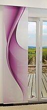 Flächengardine von LYSEL® - Twist lichtdurchlässig mit Motiv in den Maßen 245 cm x 60 cm violett/signalviole